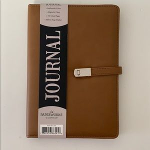 Paperworks Journal leatherette magnetic clasp
